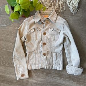 Anthropologie Tulle Corduroy Jacket